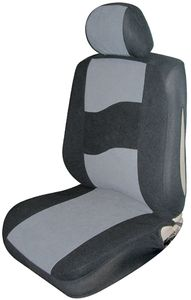 Gray Low Back Side Air Bag Bucket Seat Cover (Pair)