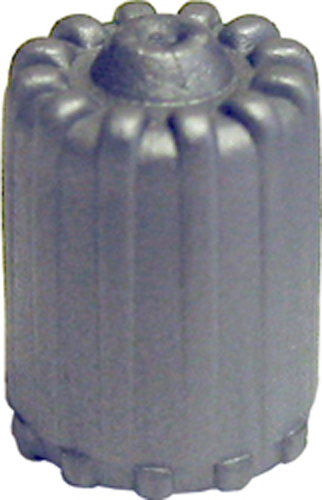 Image of Gray TPMS Plastic Valve Caps With Seal (Box of 100)