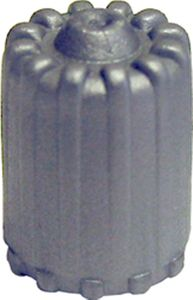Gray TPMS Plastic Valve Caps With Seal (Box of 100)