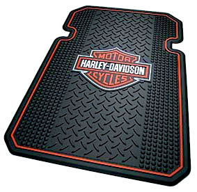 Image of Harley Davidson Rubber Front Truck Mats (Pair)