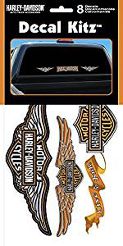 Image of Harley-Davidson 8 Piece Vinyl Decal Kit