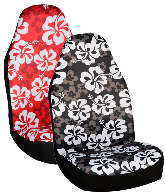 Hawaiian Car Seat Covers >> Hawaiian Print Universal Bucket Seat Covers Pair