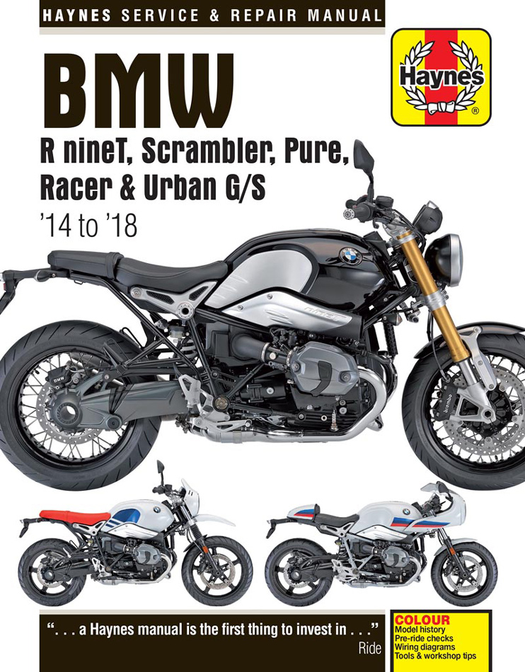 BMW R nineT Scrambler Pure Racer & Urban G/S Haynes Repair Manual (2014-2018)