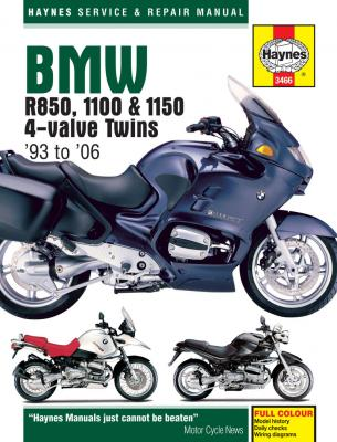 BMW R850 1100 & 1150 4-Valve Twins Haynes Repair Manual (1993-2006)