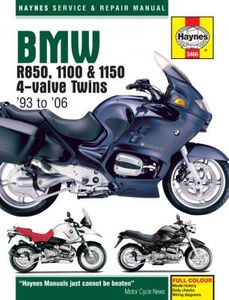 BMW R850, 1100 & 1150 4-Valve Twins Haynes Repair Manual (1993-2006)
