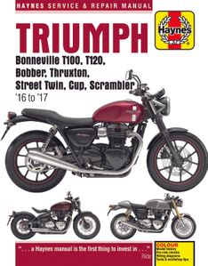Haynes Triumph Street, Bonneville, and Thruxton - (2016-2017)