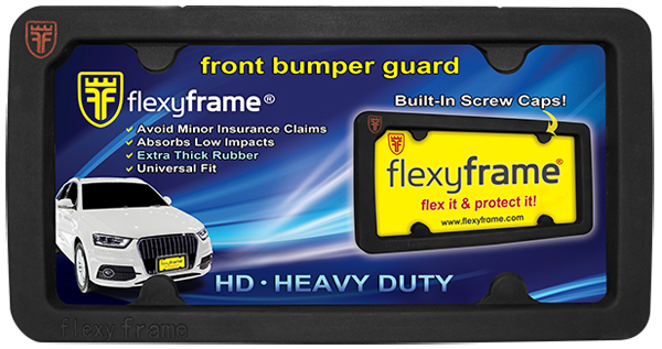 Image of Heavy-Duty FlexyFrame License Plate Frame & Bumper Protector
