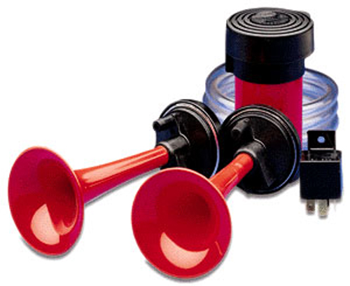 Image of Hella 12V Twin 2-Tone Air Horn Kit
