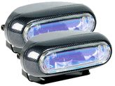 Hella Optilux 1250 Electron Blue Carbon Fiber Rectangular Fog Light Kit