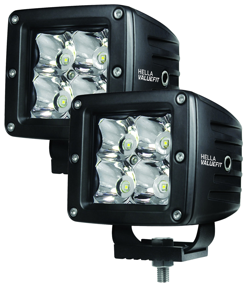 Hella ValueFit Cube 4 LED Spot Lighting Kit