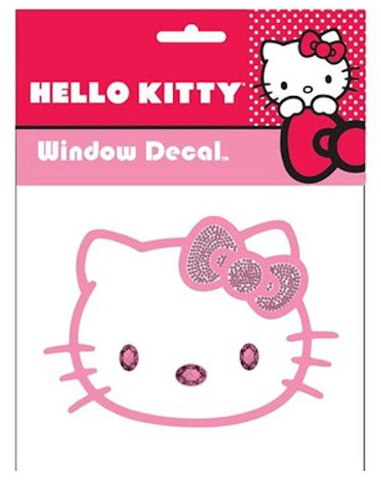 Image of Hello Kitty Pink Crystal Bling Decal