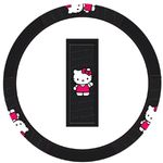 Hello Kitty Waving Steering Wheel Cover