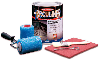 Image of Herculiner Black Brush-On Truck Bed Liner Kit (Gallon)