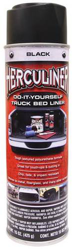 Image of Herculiner Black Spray-On Truck Bed Liner (15 oz)