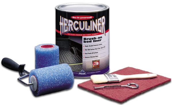 Image of Herculiner Gray Brush-On Truck Bed Liner Kit (Gallon)