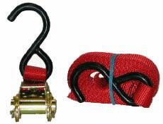 Highland 13' Ratchet Tie Down With Coated Hook