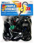 Highland 5 Piece Triple Strength Bungee Cord Pack