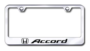 Honda Accord Laser Etched Stainless Steel License Plate Frame
