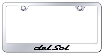 Honda Del Sol Laser Etched Mirrored Stainless Steel License Plate Frame