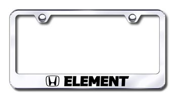 Honda Element Laser Etched Stainless Steel License Plate Frame
