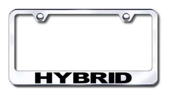 Hybrid Vehicles Laser Etched Stainless Steel License Plate Frame