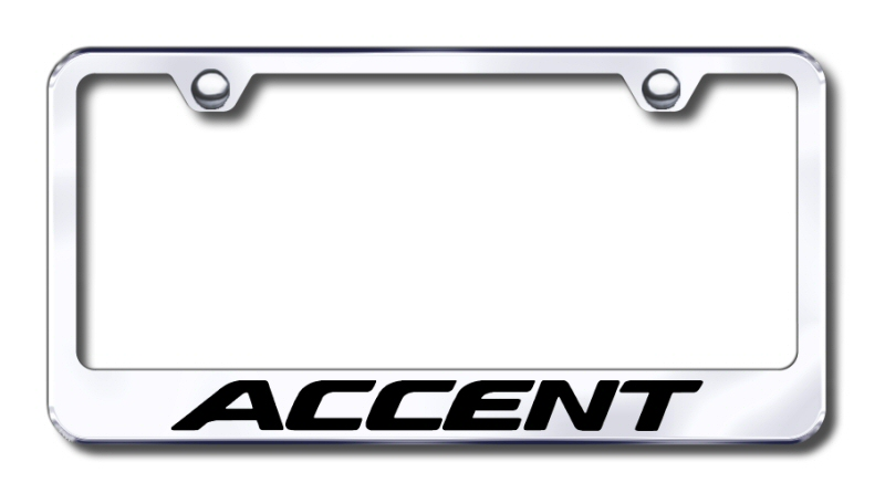 Hyundai Accent Laser Etched Stainless Steel License Plate Frame