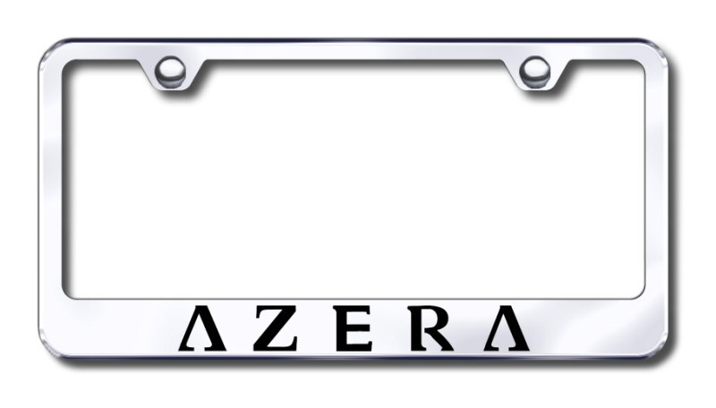 Hyundai Azera Laser Etched Stainless Steel License Plate Frame