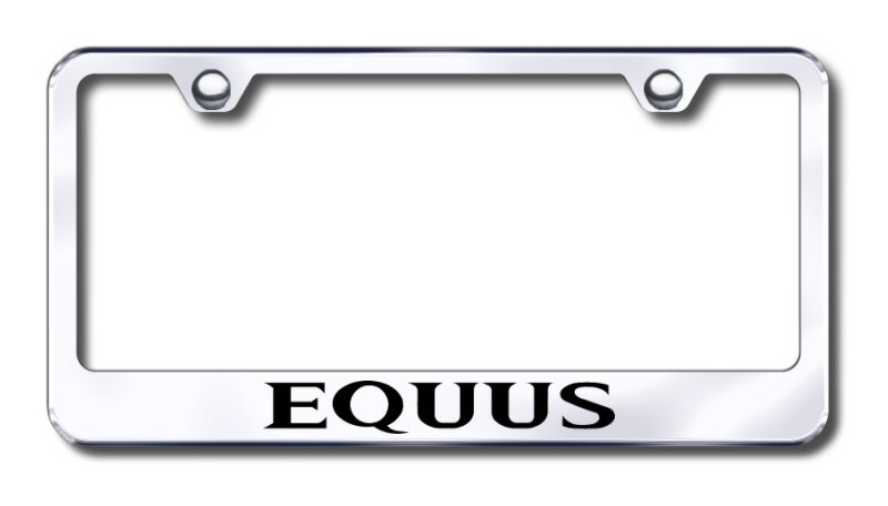 Hyundai Equus Laser Etched Stainless Steel License Plate Frame -  Mirror
