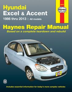 Hyundai Excel & Accent Haynes Repair Manual (1986-2013)