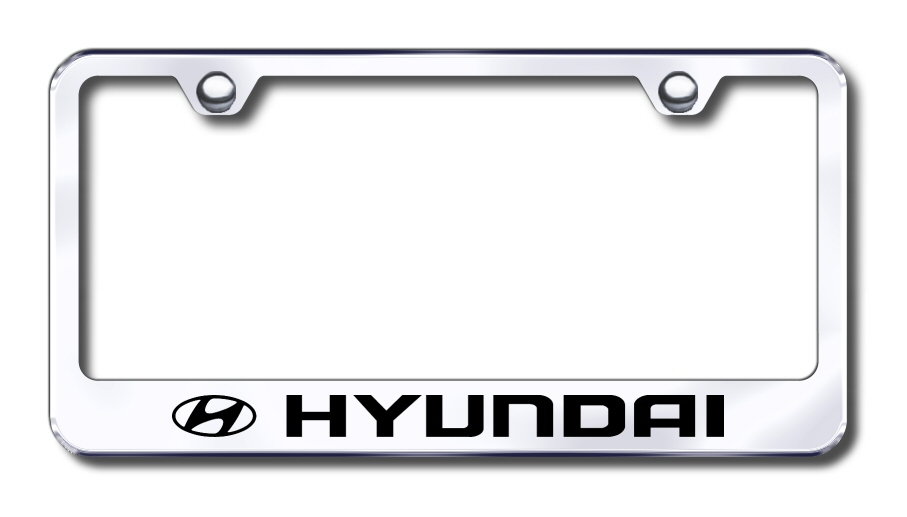 Hyundai Logo Laser Etched Stainless Steel License Plate Frame