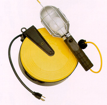 Image of Incandescent Work Light With Retractable Reel (50 ft. Cord)