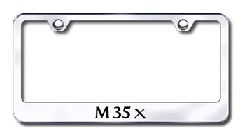 Infiniti M35X Laser Etched Stainless Steel License Plate Frame