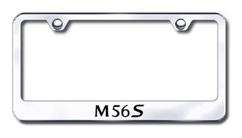 Infiniti M56S Laser Etched Stainless Steel License Plate Frame