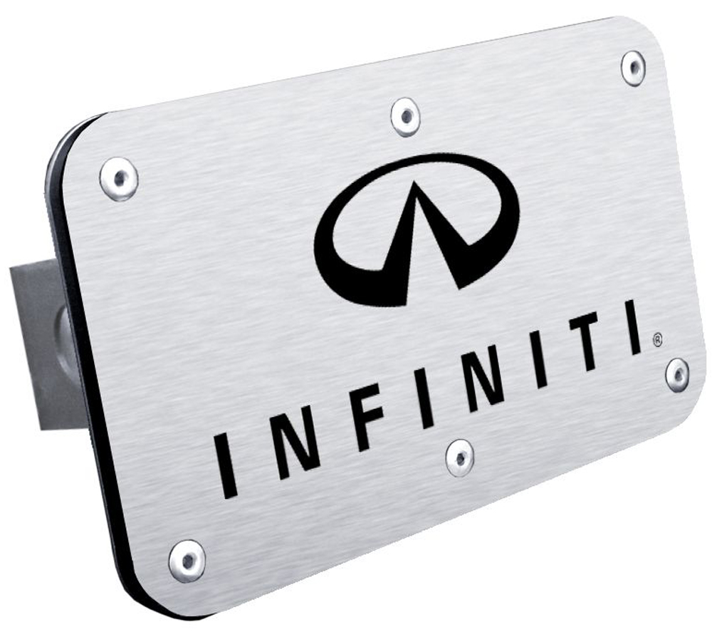 Infiniti Stainless Steel Name & Logo Hitch Plug
