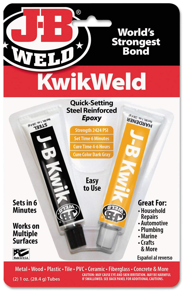 Image of J-B Weld Kwik-Weld Quick Setting Steel Reinforced Epoxy(2 oz.)
