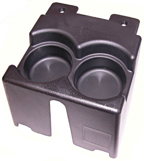 Jeep Cherokee XJ Black Console Dual Cup Holder (1984-2001)