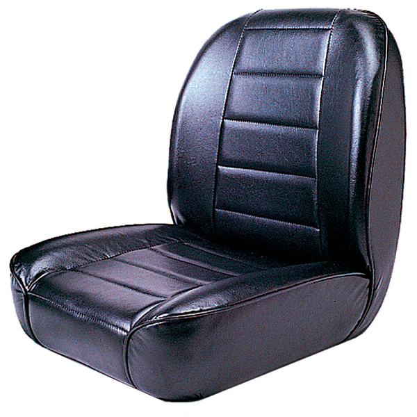 Image of Jeep CJ Black Low Back Front Bucket Seat (1955-1986)