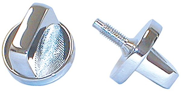 Image of Jeep CJ Chrome Windshield Knobs-Pair (1976-1986)