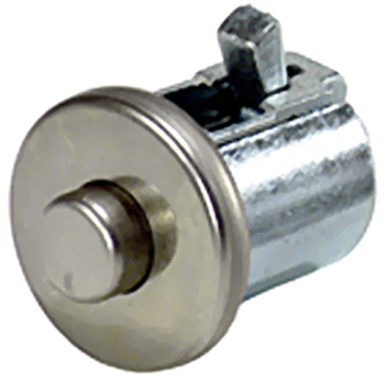 Image of Jeep CJ Stainless Steel Glove Box Lock Button