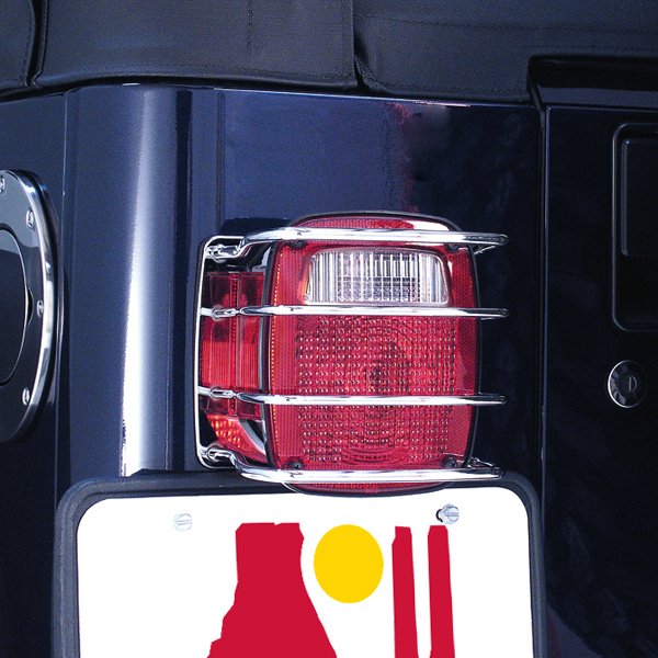 Image of Jeep CJ & Wrangler Stainless Steel Tail Light EuroGuards-Pair (1976-2006)