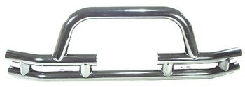 Jeep CJ, Wrangler & Unlimited Stainless Steel Front Tube Bumper w/Winch Cut Out (1976-2006)