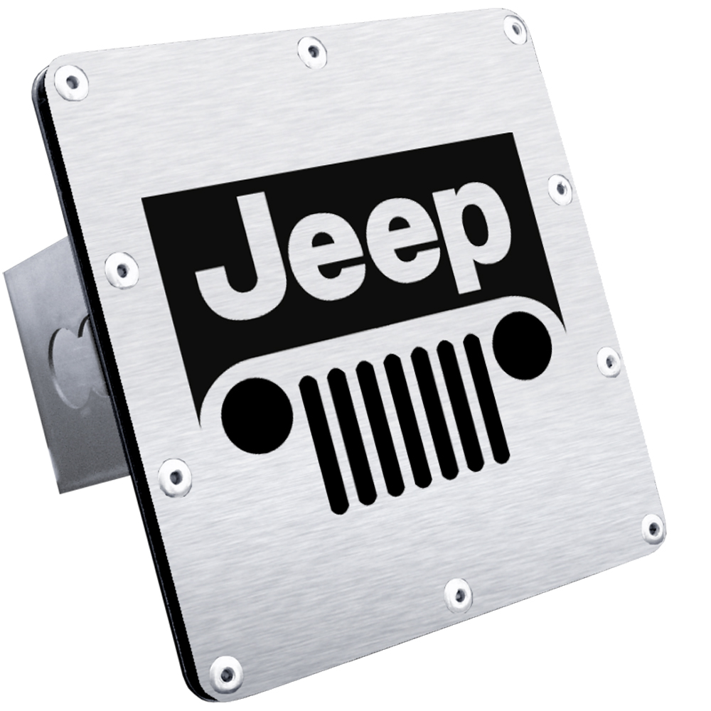 Jeep Grill Stainless Steel Class III Hitch Plug