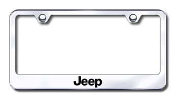 Jeep Laser Etched Stainless Steel License Plate Frame