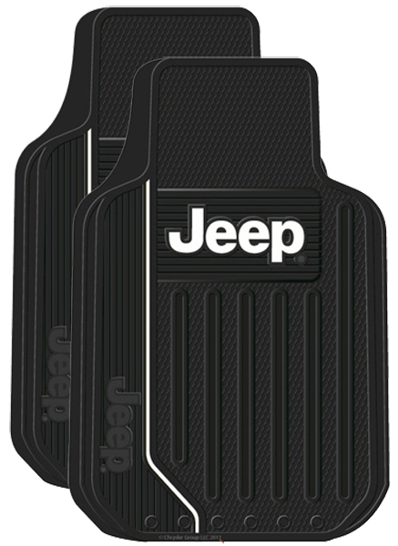 Image of Jeep Logo Rubber Floor Mats (Pair)