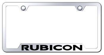 Jeep Rubicon Laser Etched Stainless Steel Cut-Out License Plate Frame