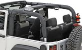 Jeep Wrangler 2 Door Black Vinyl Roll Bar Cover (2007-2018)