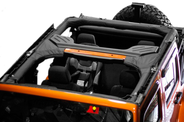 Image of Jeep Wrangler 4 Door Black Polyester Roll Bar Cover (2007-2018)