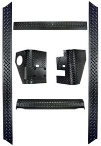 Jeep Wrangler 6 Piece Black Body Armor Kit w/o Bushwacker Flares (1997-2006)