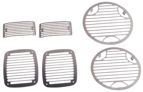 Jeep Wrangler 6 Piece Stainless Steel Stone Guard Set (1997-2006)