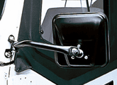 Jeep Wrangler Black CJ-Style Side Mirrors-Pair (1997-2006)